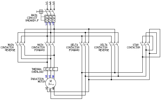 reversing motor starter wiring diagram 3 phase electric motor Wiring Diagrams For Motors control wiring of star delta starter with diagram wiring diagrams reversing motor starter wiring diagram motor wiring diagram for motors