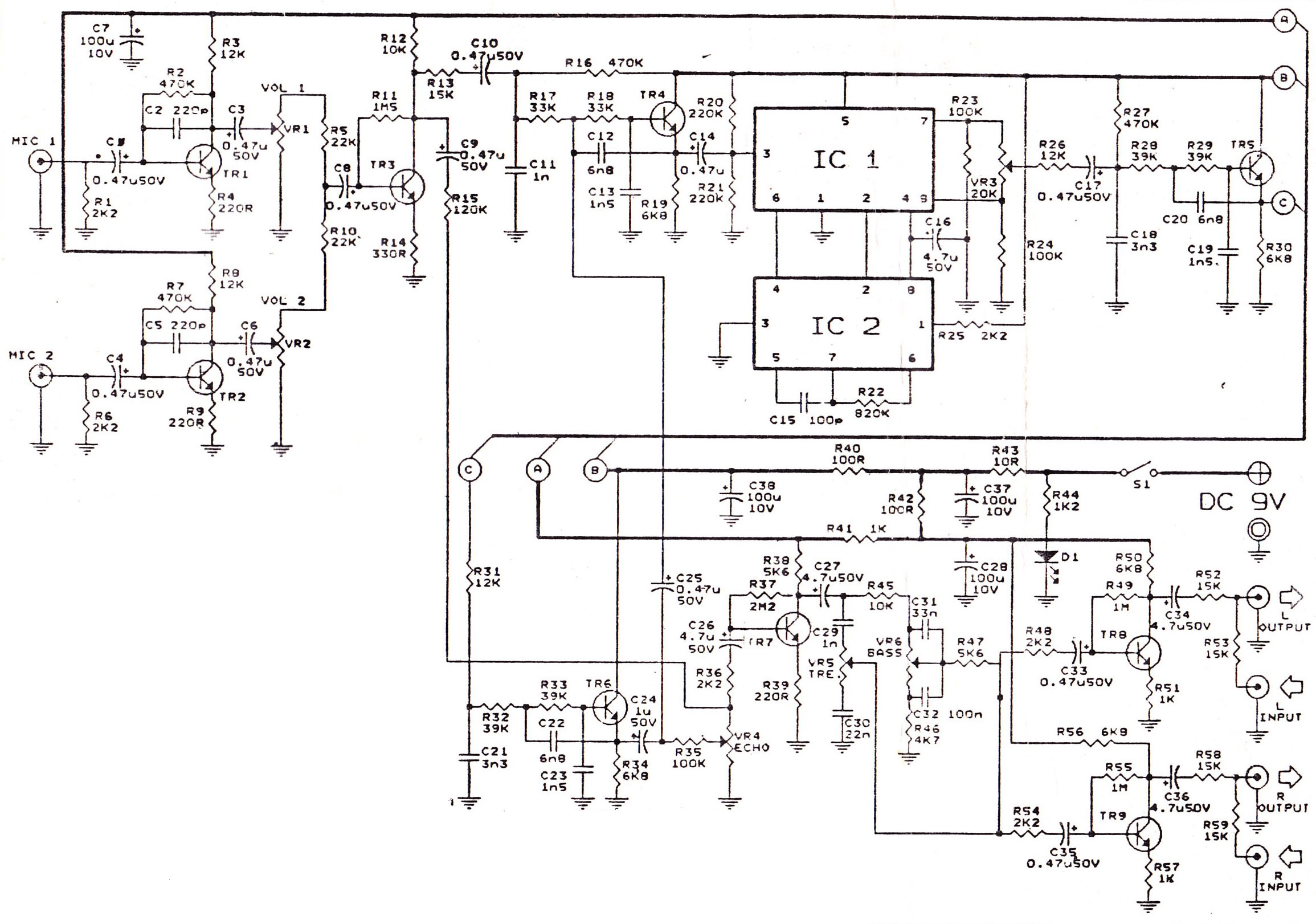 Wireless Microphone Schematic