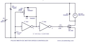PWM Motor Speed Control Circuit with Diagram for DC Motor under Repositorycircuits 37210