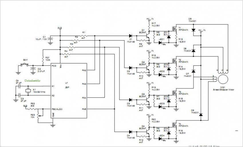L298 Motor Driver Schematic