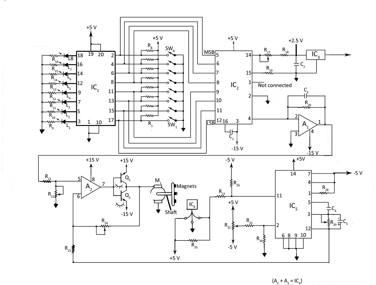 Digital Dc Motor Speed Control With Led Display Under