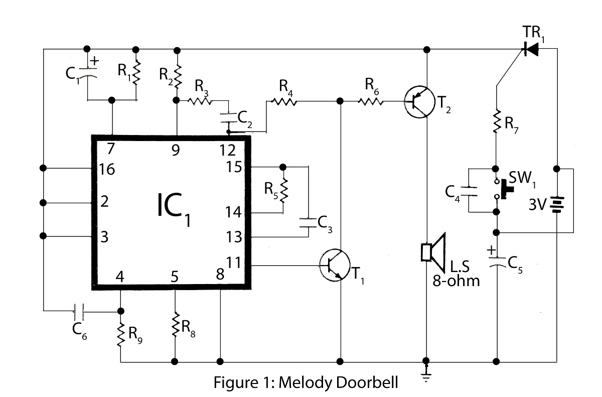 Advanced Melody Doorbell Under Repository Circuits