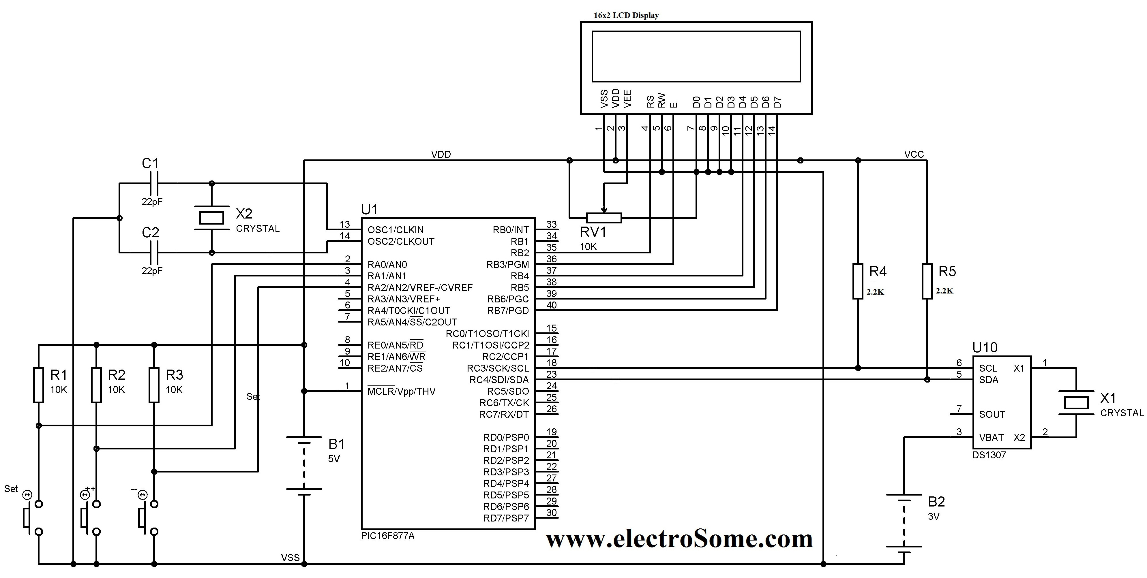 Led Clock Wiring Diagram
