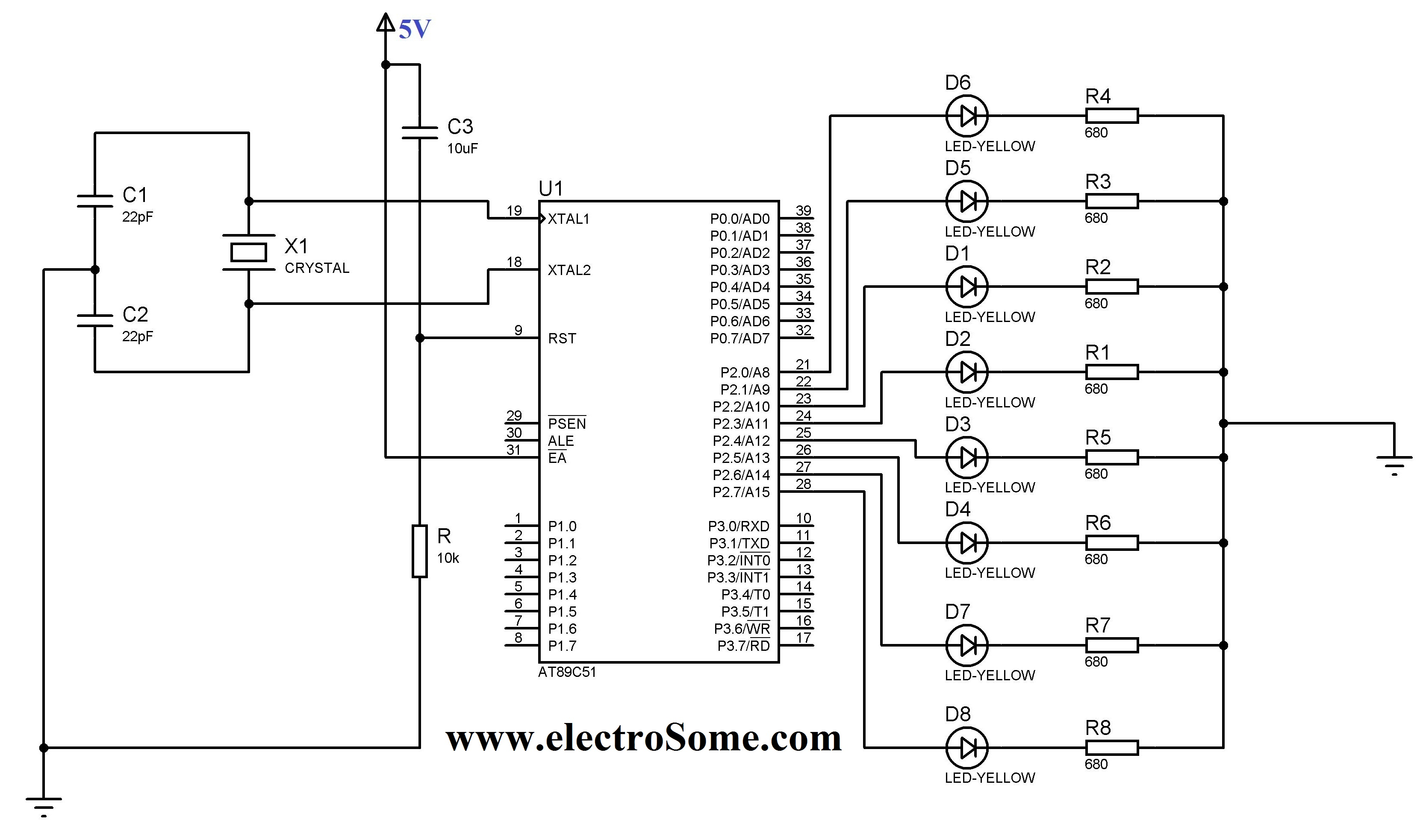 Gt Circuits Gt Led Blinking Microcontroller Keil C Tutorial At89c51 L