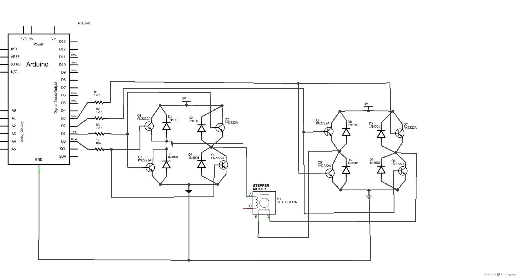 Arduino H Bridge Wiring Diagram
