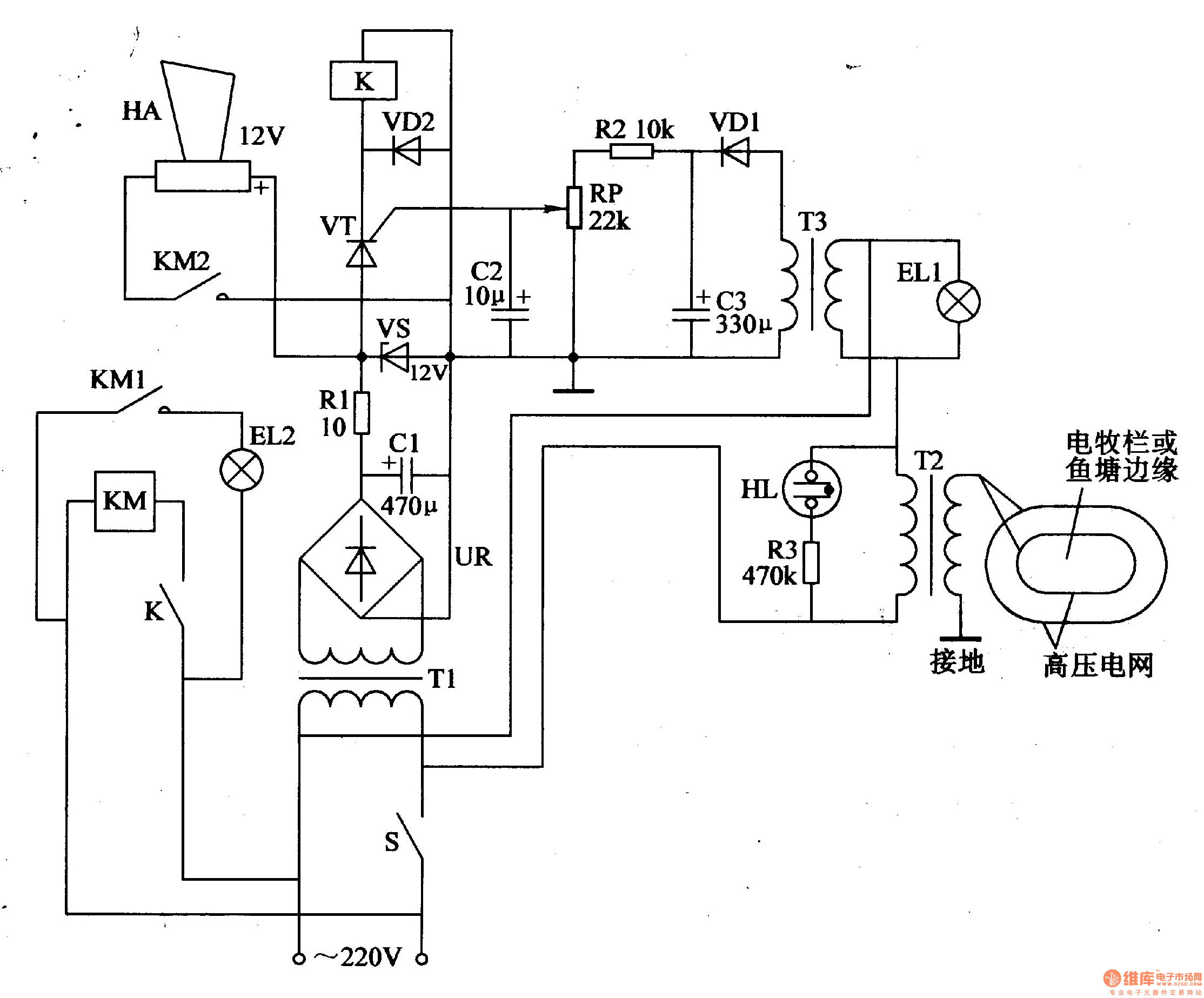 Electric Fence Control Circuit Repository