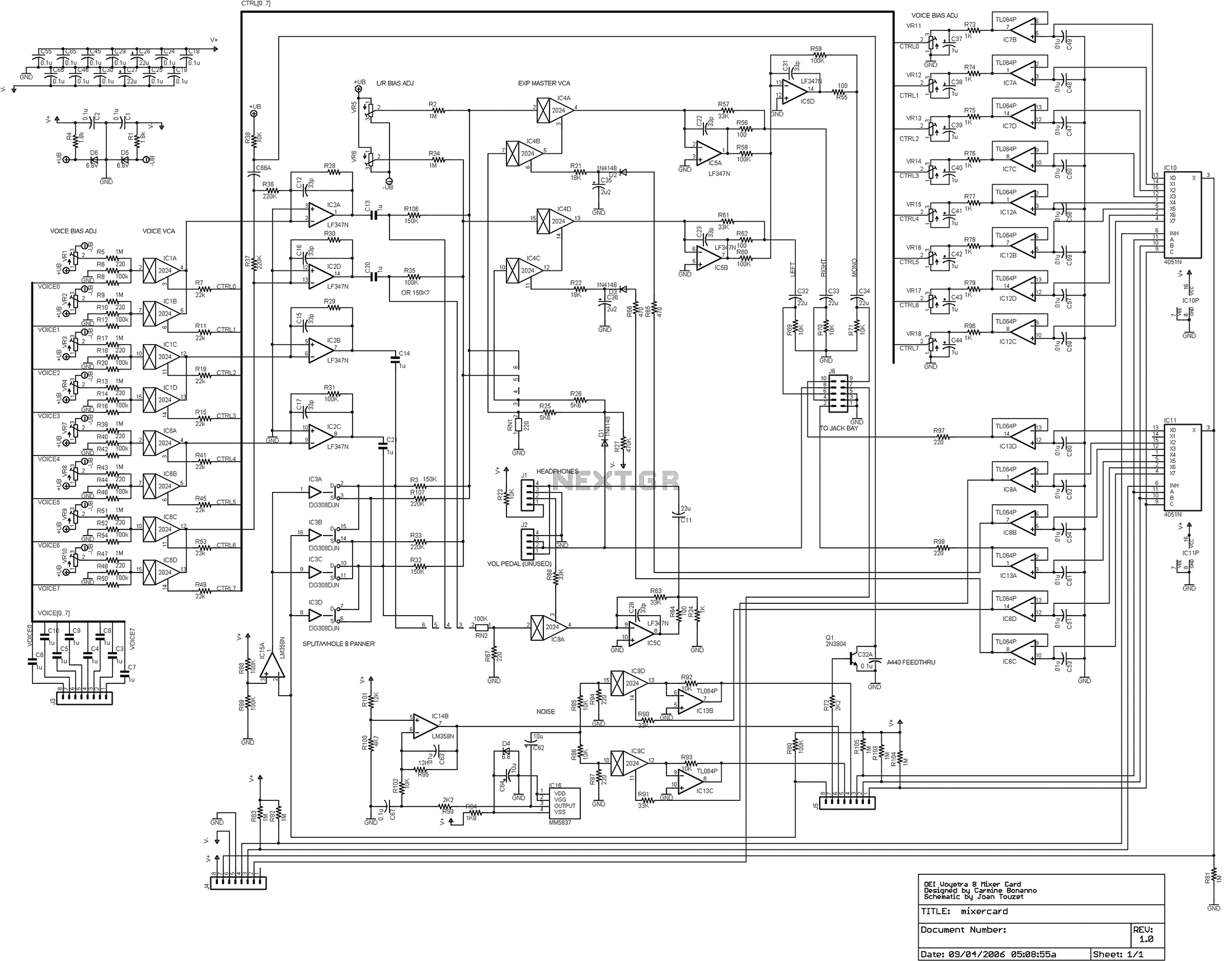 Audio Mixer Circuit Page 2 Audio Circuits Next