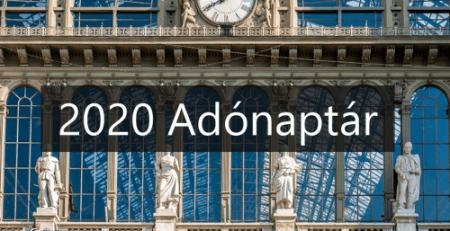 Tax Calendar 2020