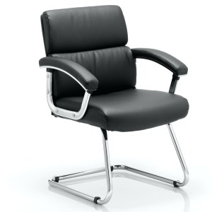 Desire Cantilever Chair Black With Arms