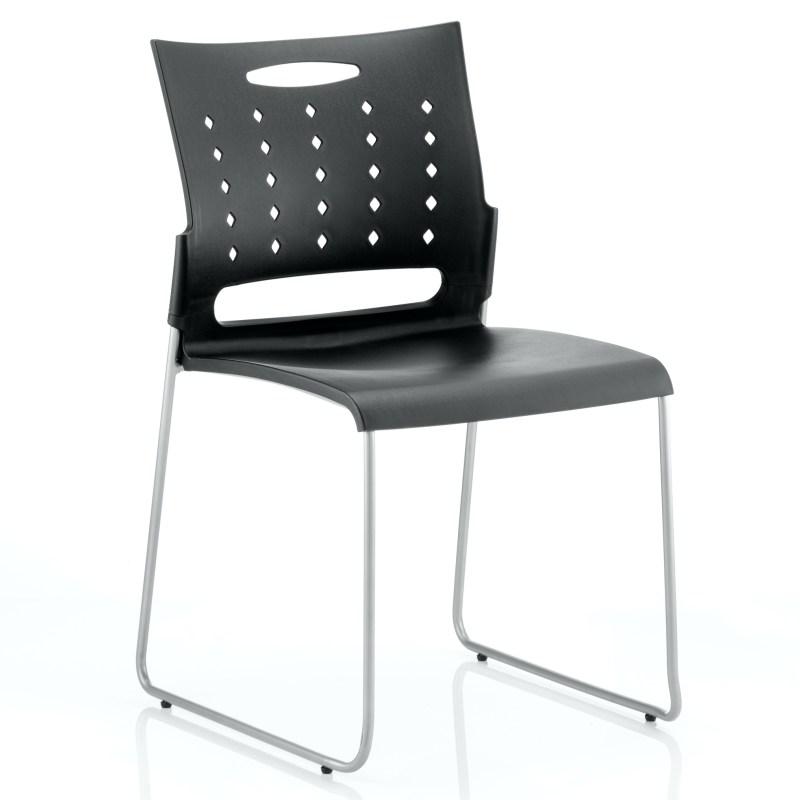 Slide Visitor Chair Black Polypropylene