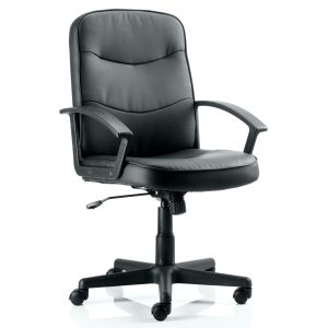 Harley Executive Chair Black Leather With Arms