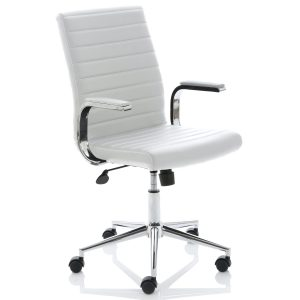 Ezra Executive White Leather Chair