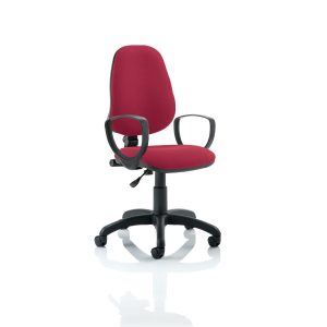 Eclipse I Lever Task Operator Chair Wine With Loop Arms