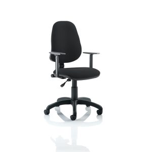 Eclipse I Lever Task Operator Chair Black With Height Adjustable Arms