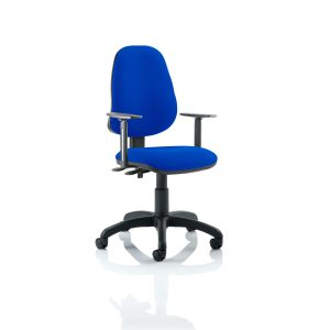 Eclipse II Lever Task Operator Chair Blue With Height Adjustable Arms