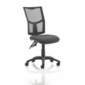 Eclipse II Lever Task Operator Chair Mesh Back With Black Seat