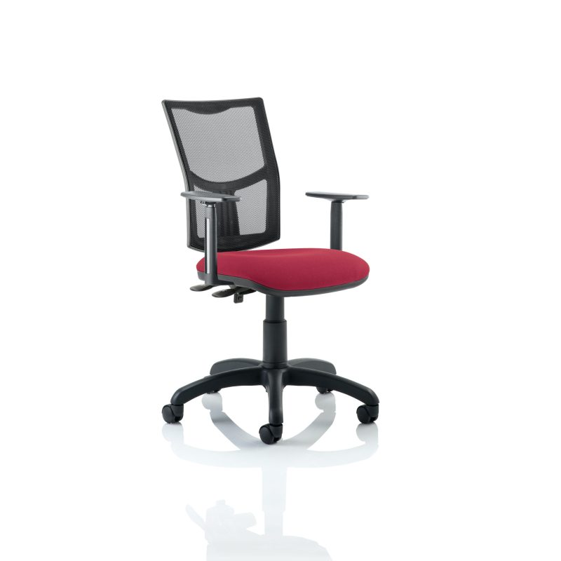 Eclipse II Lever Task Operator Chair Mesh Back With Wine Seat With Height Adjustable Arms