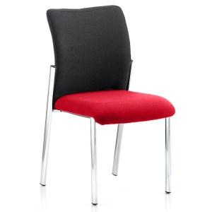 Academy Black Fabric Back Bespoke Colour Seat Without Arms Bergamot Cherry