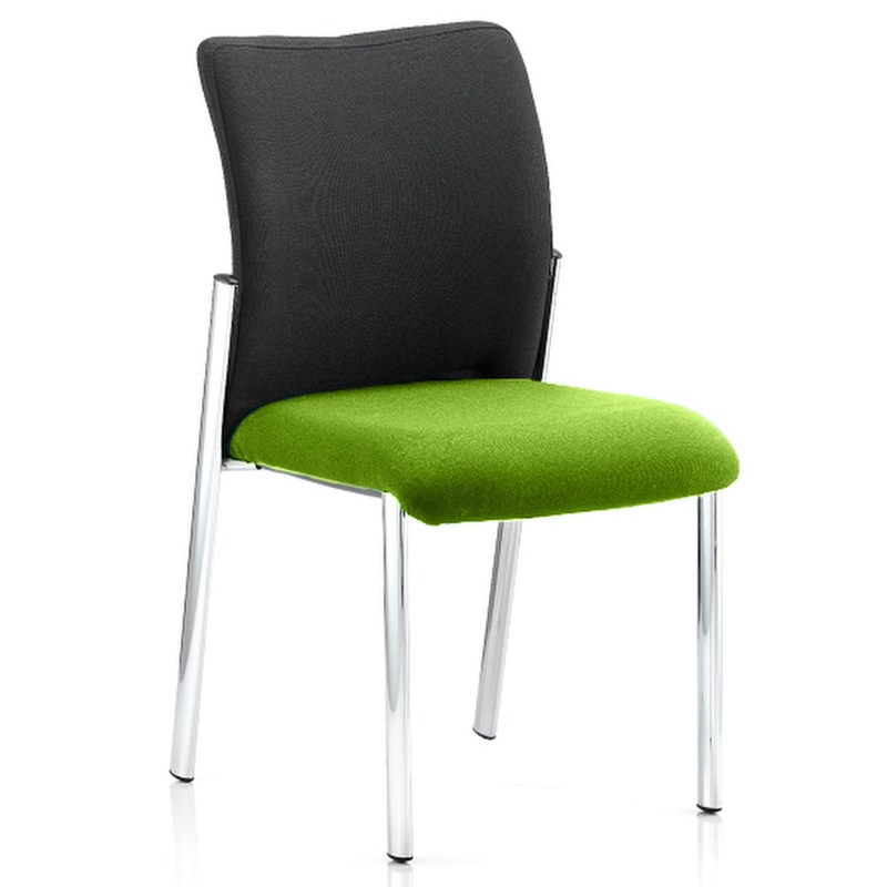 Academy Black Fabric Back Bespoke Colour Seat Without Arms Myrhh Green