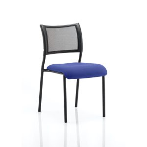 Brunswick No Arm Bespoke Colour Seat Black Frame Stevia Blue