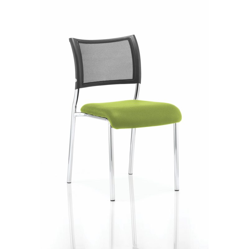 Brunswick No Arm Bespoke Colour Seat Chrome Frame Myrhh Green
