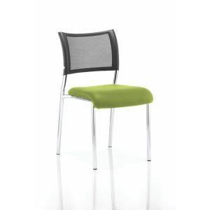 Brunswick No Arm Bespoke Colour Seat Chrome Frame Myrhh Green