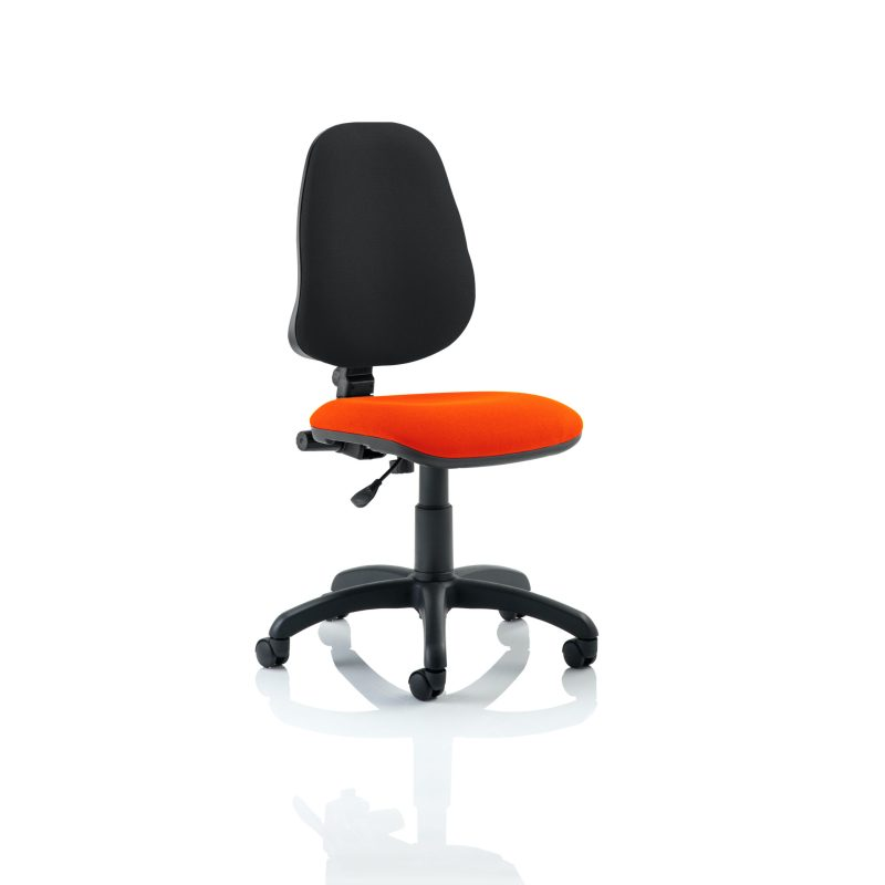 Eclipse I Lever Task Operator Chair Bespoke Colour Seat Tabasco Red
