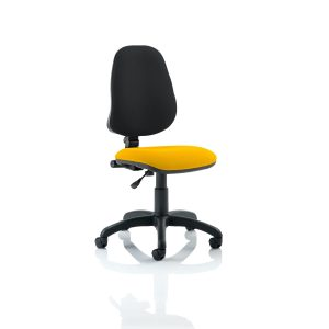 Eclipse I Lever Task Operator Chair Bespoke Colour Seat Senna Yellow