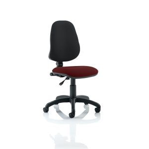 Eclipse I Lever Task Operator Chair Bespoke Colour Seat Gingseng Chilli