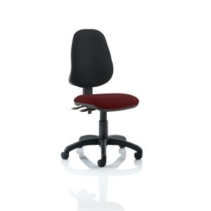 Eclipse II Lever Task Operator Chair Bespoke Colour Seat Gingseng Chilli