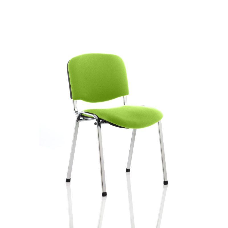 ISO Chrome Frame Bespoke Colour Fabric - (Min Order Qty X 4) Myrhh Green