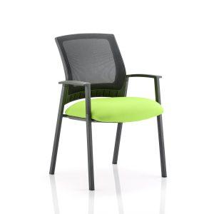 Metro Visitor Chair Bespoke Colour Seat Myrhh Green