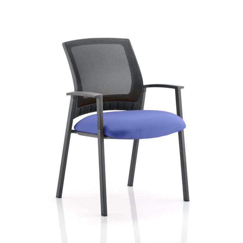 Metro Visitor Chair Bespoke Colour Seat Stevia Blue