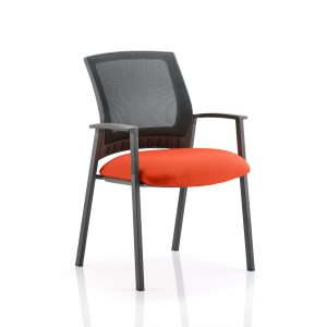 Metro Visitor Chair Bespoke Colour Seat Tabasco Red