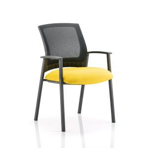 Metro Visitor Chair Bespoke Colour Seat Senna Yellow
