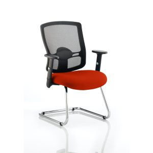 Portland Cantilever Bespoke Colour Seat Tabasco Red
