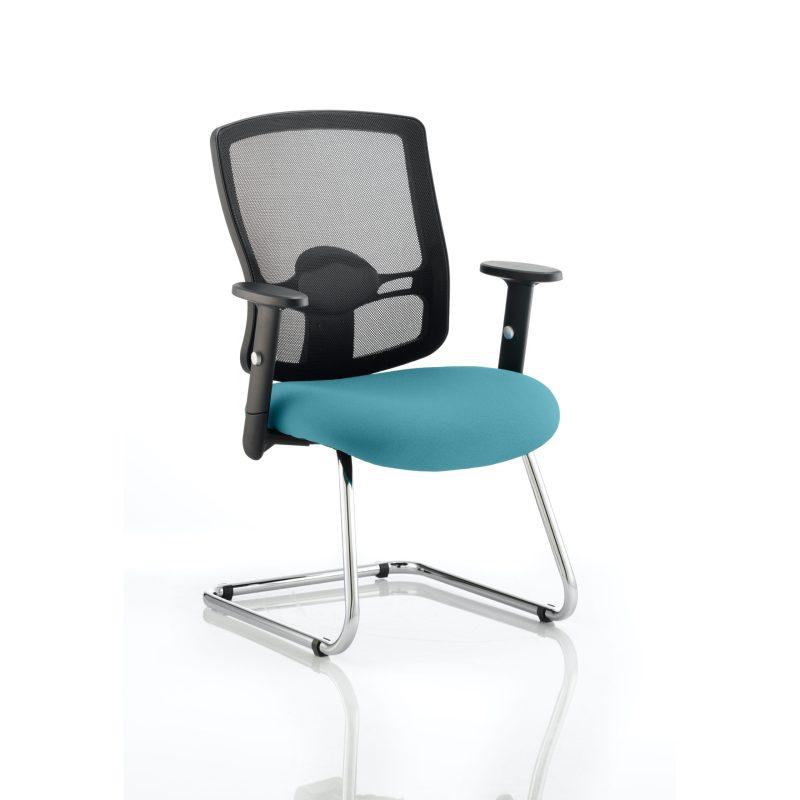 Portland Cantilever Bespoke Colour Seat Maringa Teal