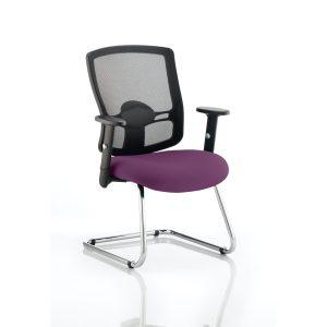 Portland Cantilever Bespoke Colour Seat Tansy Purple