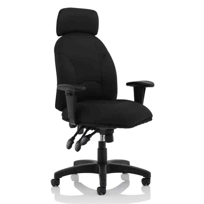 Jet Black Fabric Executive Chair