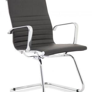 Fenn Black Faux Leather Cantilever Chair