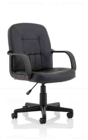 Hove Bonded Leather Executive Chair with Fixed Arms