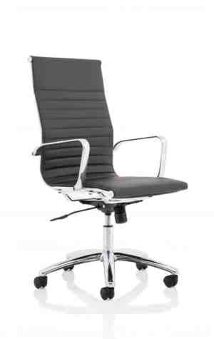 Fenn Black Faux Leather Executive Chair