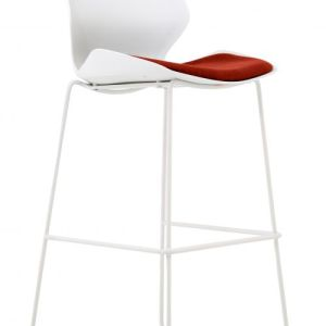 Florence White Frame High Stool in Ginseng Chilli