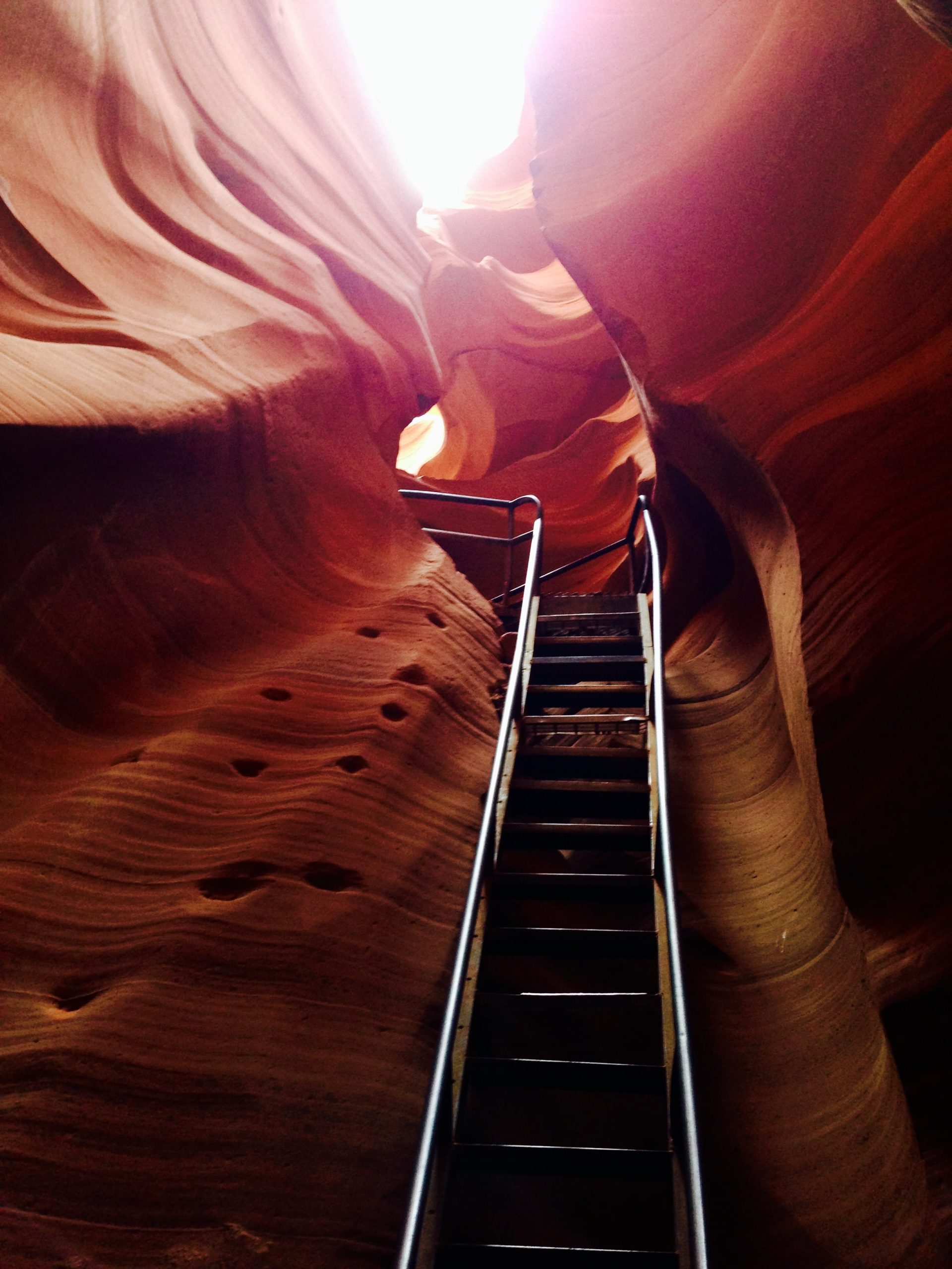 Ladder Steps for Lower Antelope Canyon