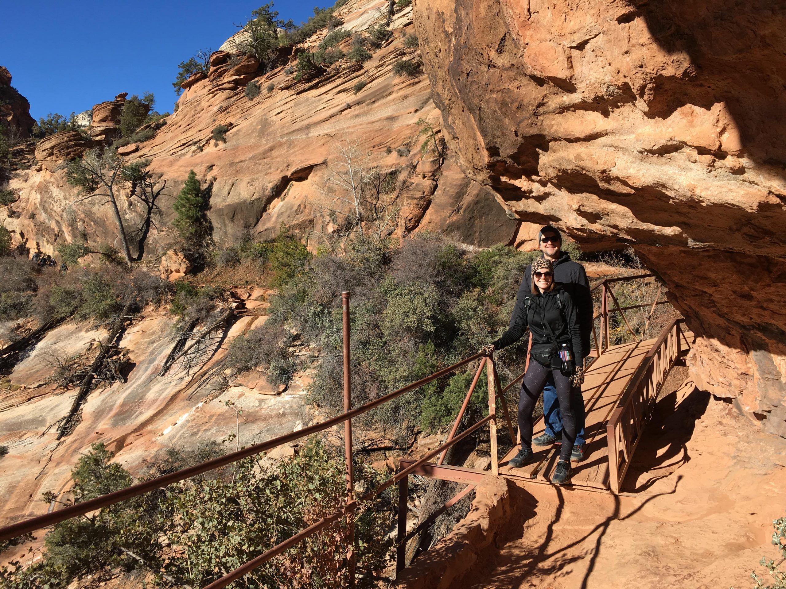 Hiking the Canyon Overlook Trail at Zion National Park on Utah National Parks Road Trip