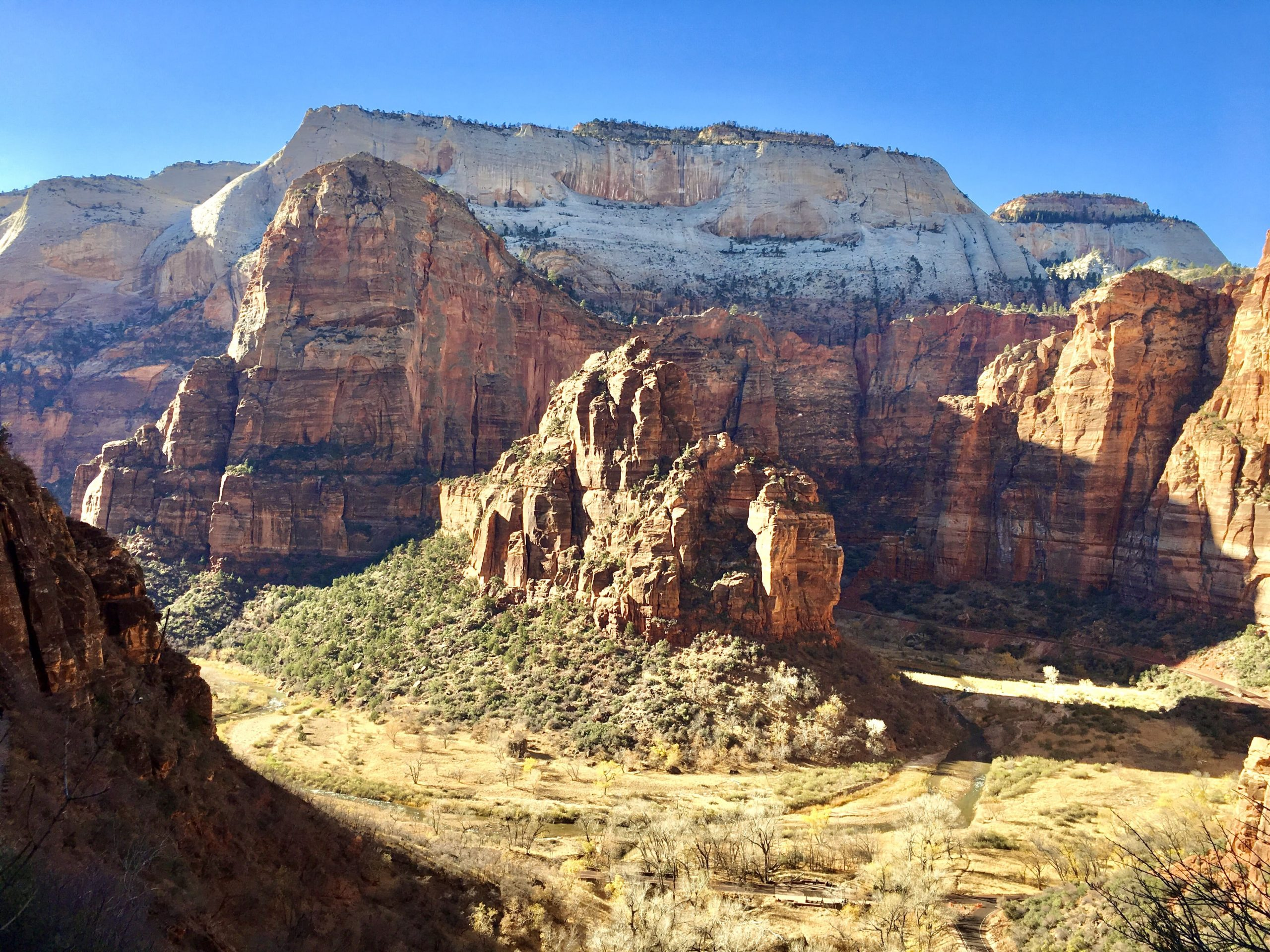 View from Hidden Canyon Trail at Zion National Park