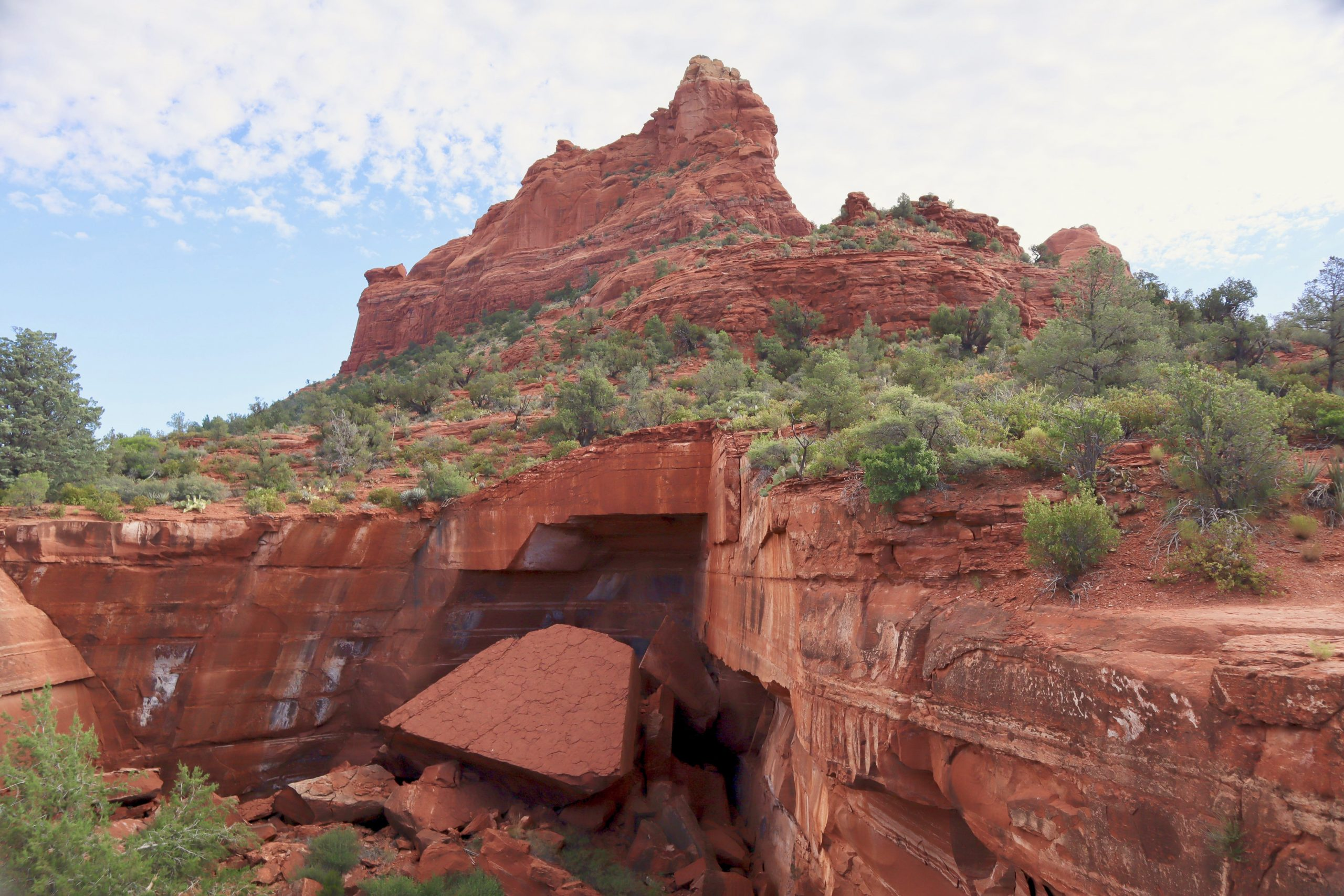 Devils Kitchen Sinkhole on the Soldier Pass Trail in Sedona AZ