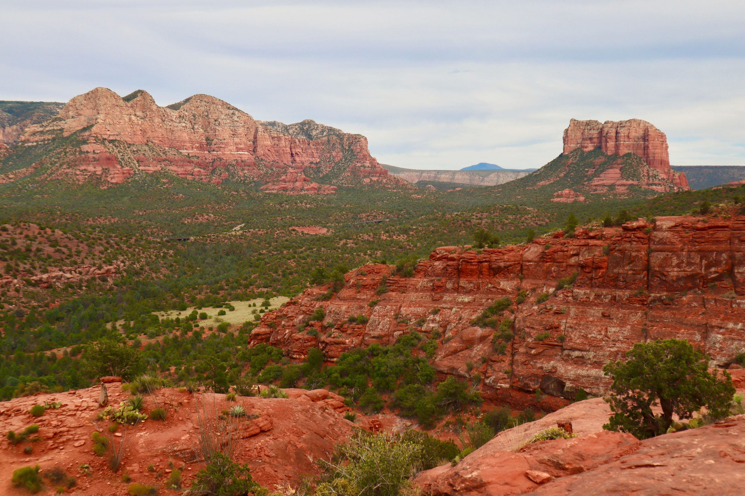View from Cathedral Rock Trail Sedona AZ