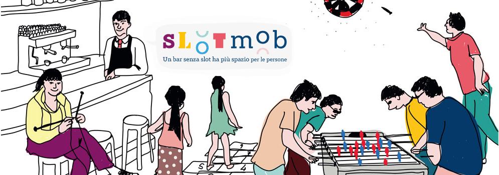 L'immagine simbolo del movimento Slot Mob, perché un bar senza slot ha più posto per le persone