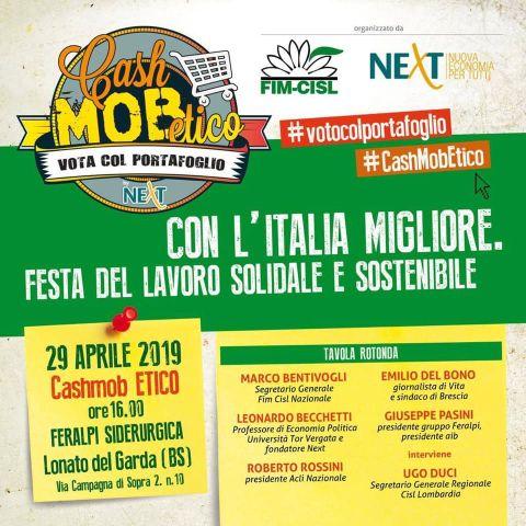Cash Mob Etico – 1° maggio FIM 2019